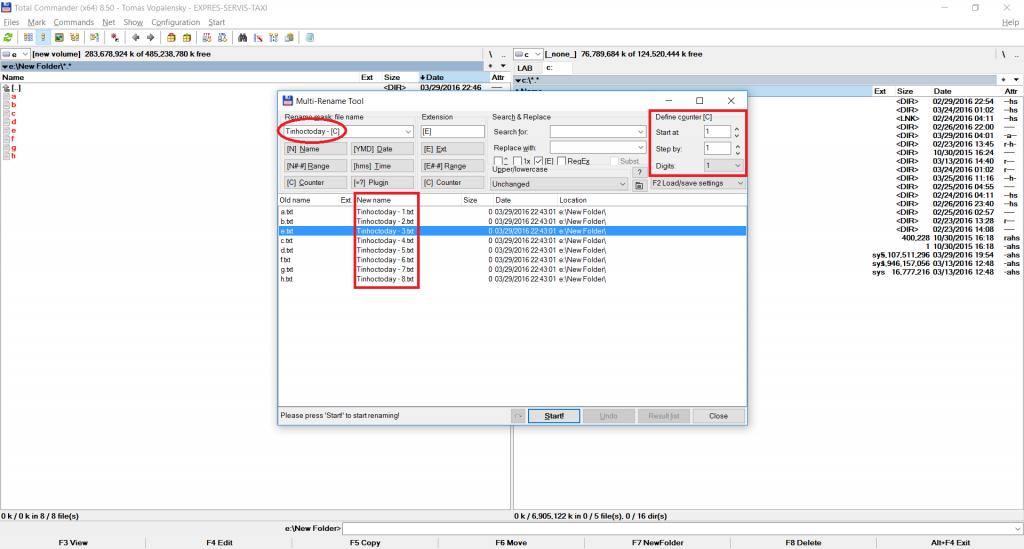 đổi tên file hàng loạt bằng Totalcmd